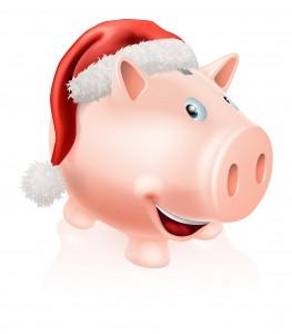 Christmas savings piggy