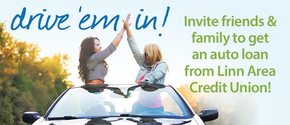 Drive 'em in! Auto loan promotion