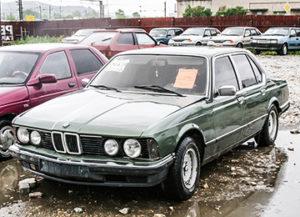 Junker BMW in parking lot