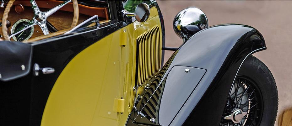 Detail of 1930s car fender
