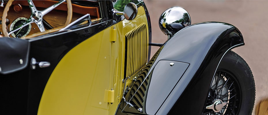 Detail of 1930s car fender