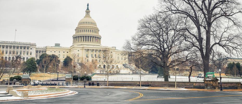 Washington DC in wintertime